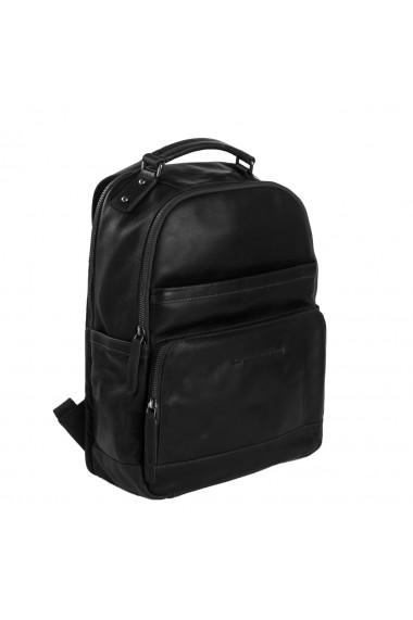 Rucsac pentru laptop de 14 inch si tableta The Chesterfield Brand din piele neagra model Austin