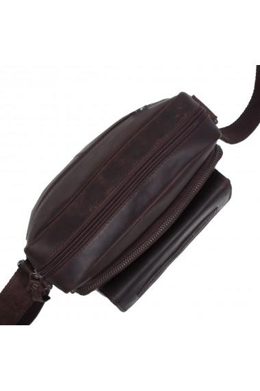 Geanta de barbati The Chesterfield Brand din piele moale maro Bath