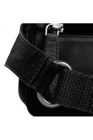 Borseta (marsupiu) de brau unisex The Chesterfield Brand din piele neagra model Jax