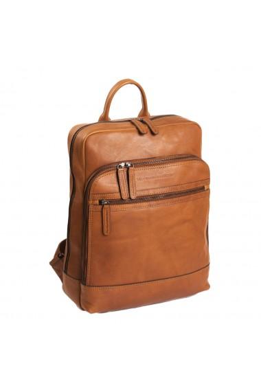 Rucsac pentru laptop de 15 4 inch si tableta de 10 5 inch The Chesterfield Brand din piele coniac model Hayden