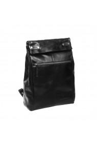 Rucsac The Chesterfield Brand Graz piele neagra cu compartiment pentru laptop de 15 inch