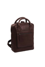 Rucsac laptop 13 inch The Chesterfield Brand din piele moale maro Davon