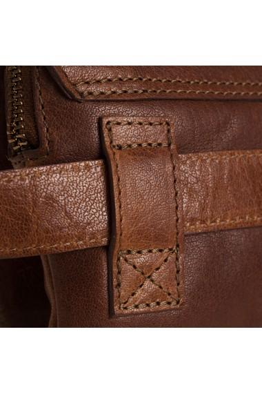 Borseta (marsupiu) de brau unisex The Chesterfield Brand din piele maro coniac model Carter