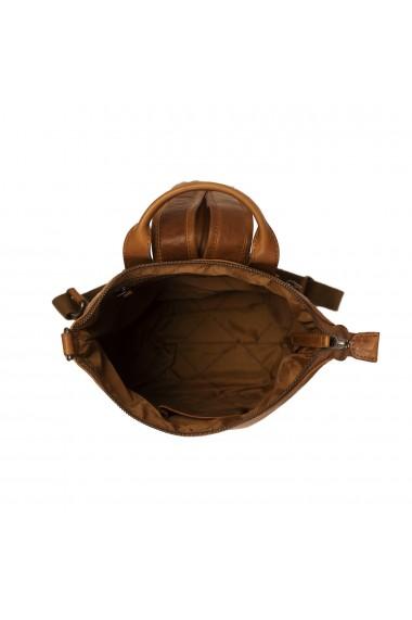 Rucsac de dama The Chesterfield Brand din piele moale maro coniac Saar