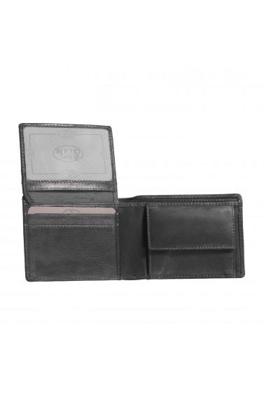 Portofel The Chesterfield Brand cu protectie anti scanare RFID din piele naturala neagra Martin