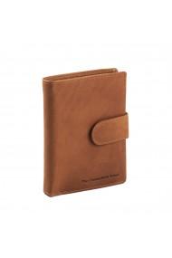 Portofel barbati The Chesterfield Brand cu protectie anti scanare RFID din piele naturala maro coniac Ruby