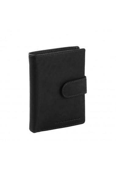 Portofel barbati The Chesterfield Brand cu protectie anti scanare RFID din piele naturala neagra Ruby