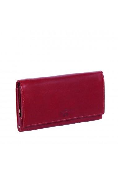 Portofel dama The Chesterfield Brand cu protectie anti scanare RFID din piele naturala rosie Vilai