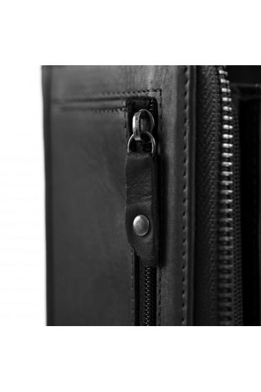 Portofel dama The Chesterfield Brand cu protectie anti scanare RFID din piele naturala neagra Nova