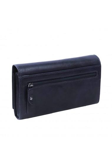 Portofel dama The Chesterfield Brand cu protectie anti scanare RFID din piele naturala bleumarin Hampton