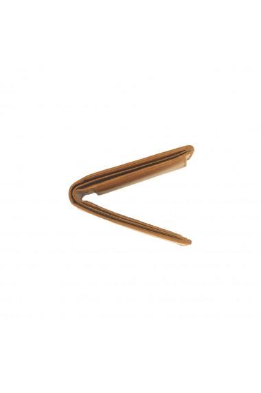 Portofel barbati The Chesterfield Brand cu protectie anti scanare RFID din piele naturala maro coniac Walid
