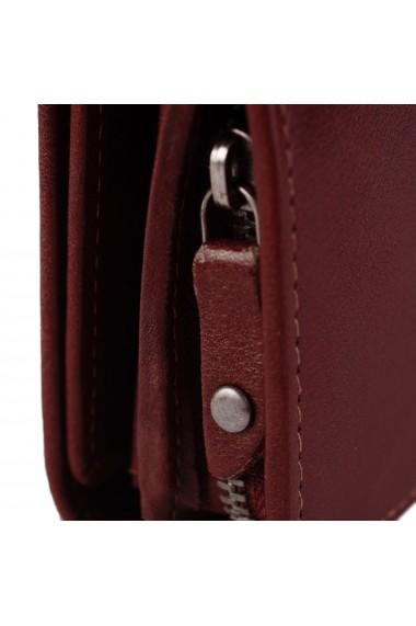 Portofel dama The Chesterfield Brand cu protectie anti scanare RFID din piele naturala rosie Aileen