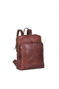 Rucsac pentru laptop de 15 4 inch si tableta The Chesterfield Brand din piele maro coniac inchis model Mack