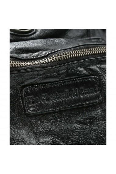 Rucsac de dama The Chesterfield Brand din piele moale neagra Jace