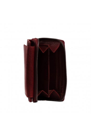 Portofel dama din piele naturala The Chesterfield Brand Hanoi cu protectie anti scanare RFID Visiniu