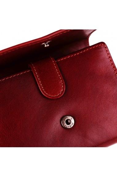 Portofel The Chesterfield Brand cu protectie anti scanare RFID din piele naturala rosie Avery