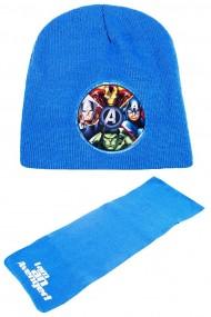 Set caciula cu fular Marvel-Avengers albastru 2-12 ani accesorii imbracaminte copii