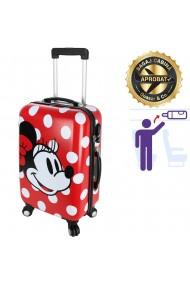 Troler cabina Disney 50 x 34 x 21 cm geamantan Love Mickey rosu-alb