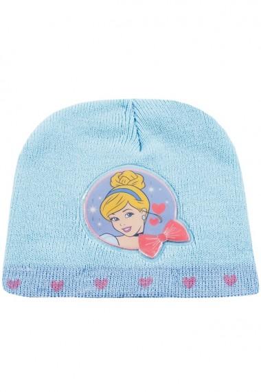 Set caciula cu manusi Disney-Cinderella bleu-roz 2-12 ani accesorii imbracaminte copii