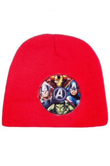Set caciula cu manusi Marvel-Avengers rosu 2-12 ani accesorii imbracaminte copii
