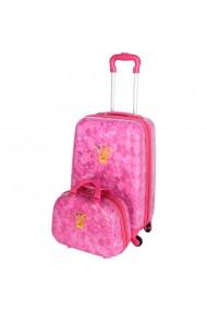 Set Troler + Geanta mana Disney Prinsessia roz 55 x 35 x 22 cm