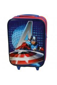 Troler cabina copii Model Avengers Disney-Captain America rosu-albastru 47 x 32 x 16 cm