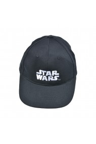 Sapca Star Wars logo alb brodat ajustabila Disney negru