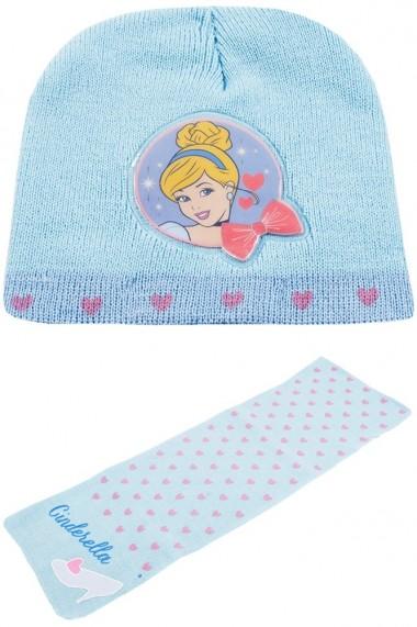 Set caciula cu fular Disney Cenusareasa bleu 2-12 ani accesorii imbracaminte copii