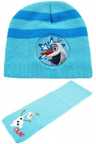 Set caciula cu fular Disney-Olaf bleu 2-12 ani accesorii imbracaminte copii