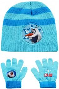 Set caciula cu manusi Disney-Olaf bleu 2-12 ani accesorii imbracaminte copii