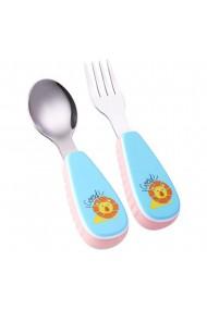 Set 2 tacamuri cu maner ergonomic pentru copii albastru