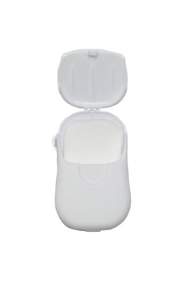 Dispozitiv cu foite de sapun 20 buc alb