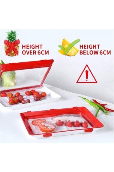 Caserola pentru conservarea alimentelor resigilabila 30 x 20 cm negru