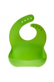 Bavetica flexibila din silicon pentru bebelusi baveta bebe din cauciuc moale usor de curatat antimurdarire Maxx verde