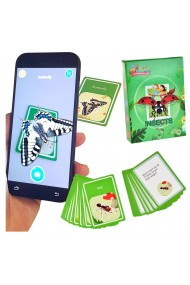 Joc realitate virtuala pentru telefon/tableta imagini 3D (vezi video in descriere) cartonase de invatare a insectelor in engleza set de 48 cartonase cu insecte si descrierea lor joc de invatare si ate