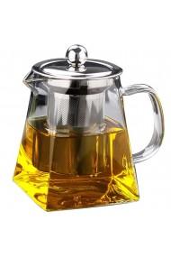 Ceainic cu infuzor Quasar & Co. 550 ml Ø8 x h12 cm recipient pentru ceai/cafea transparent