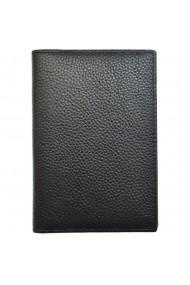 Husa pentru pasaport piele naturala granulata negru