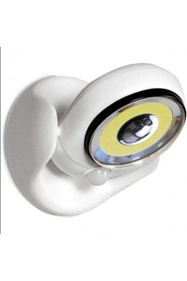 Lampa cu led cu senzor de miscare 360 grade Quasar & Co. 14 x 12 x 12 cm plastic alb