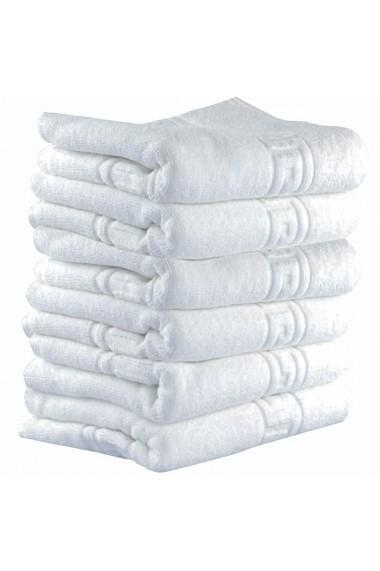 Set 6 prosoape baie fata Quasar & Co. 50 x 90 cm 600 g/mp hotel quality 100% bumbac alb