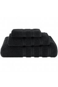 Set 3 prosoape groase 600 g/mp 1 x 33-33 cm 1 x 40-70 cm 1 x 70-140 cm bumbac 100% Quasar & Co. negru