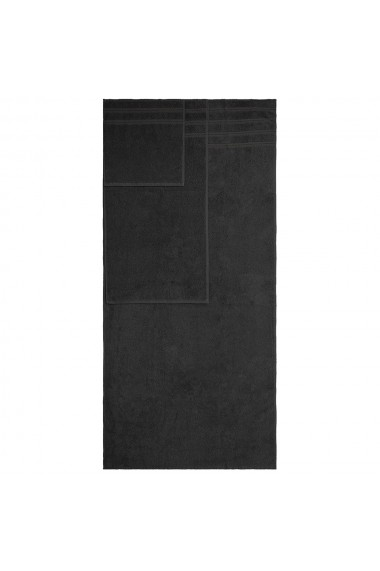 Set 3 prosoape groase 600 g/mp 1 x 33-33 cm 1 x 40-70 cm 1 x 70-140 cm bumbac 100% Quasar & Co. negru