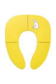 Suport adaptare capac toaleta pentru copii pliabil cu ventuze antialunecare galben