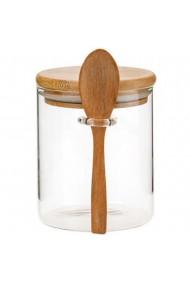Recipient depozitare alimente Quasar & Co. 450 ml borcan de sticla cu capac etans transparent