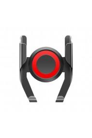 Suport telefon auto cu sistem de prindere pe ventilatie 360 de grade Negru/Rosu