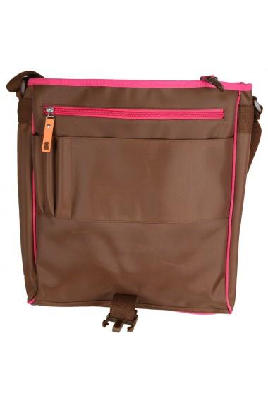 Geanta laptop tip postas pentru copii si adolescenti ghiozdan copii Miss B 36 x 33 x 10 cm maro