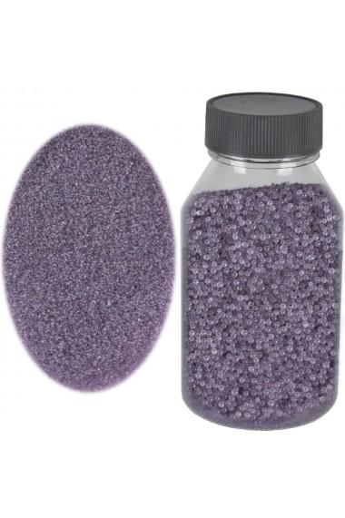 Perle sticla de decor sticla ornamentala cristale decorative Rasteli 250 g lila art. 2599