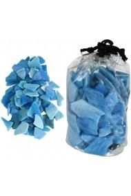 Sticla decorativa aplatizata forme neregulate sticla ornamentala Rasteli 620 g bleu art. 2757