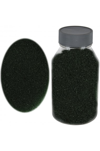 Perle sticla de decor sticla ornamentala cristale decorative Rasteli 250 g verde dark art. 2696