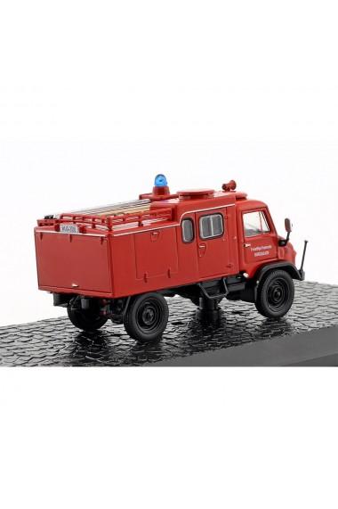 Macheta de colectie masina de pompieri VLF Unimog S 404 rosu scara 1:72