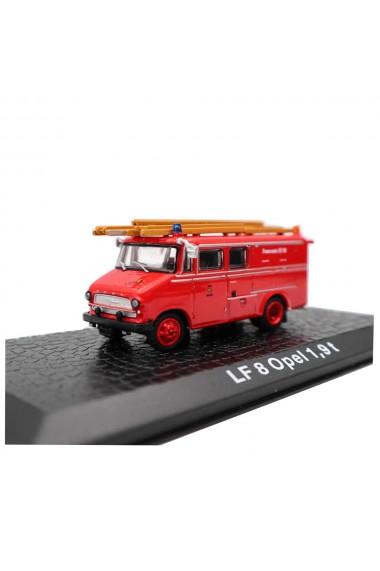 Macheta de colectie masina de pompieri LF 8 Opel 1.9 t rosu scara 1:72